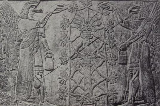 Sacred-Tree-Pine-Cone-Fertilization-Anunnaki-Reptilian-Hybrid-DNA-12-Strand-Genetic-Mesopotamia