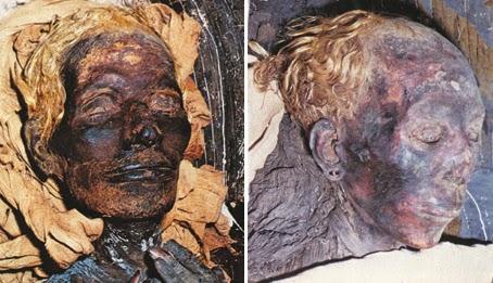Blonde-red haired-Egyptians-Phaorahs
