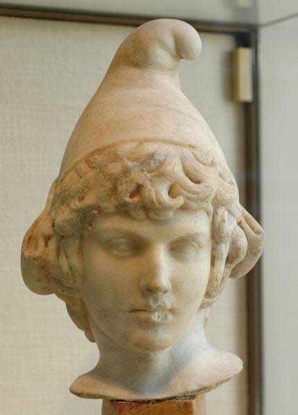Marble bust of Attis, 2nd century AD/CE, Paris.
