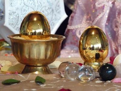 Two Golden Hiranyagarbha Lingams VV picture